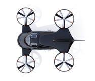Vista aérea del abejón del pasajero aislada en el fondo blanco ilustración del vector
