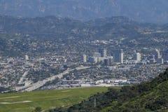 Vista aérea del aera de Burbank Fotos de archivo