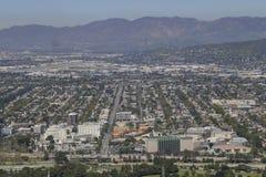 Vista aérea del aera de Burbank Fotografía de archivo