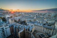 Vista aérea del arrondissement de París 12 Imagenes de archivo
