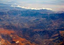 Vista aérea del atlas África de Marruecos Fotografía de archivo libre de regalías