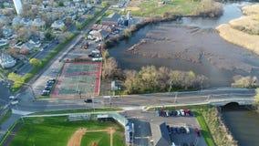 Vista aérea del béisbol recreativo de los campos almacen de video