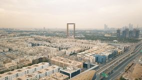 Vista aérea del bastidor de Dubai metrajes