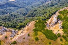 Vista aérea del bosque de la montaña fotografía de archivo libre de regalías