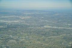 Vista aérea del Brea, Fullerton imagen de archivo libre de regalías