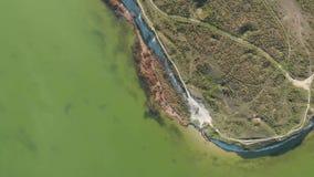 Vista aérea del cabo y del parque almacen de video