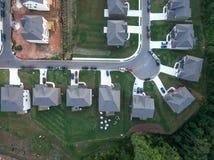 Vista aérea del callejón sin salida de la propiedad horizontal en Estados Unidos meridionales fotografía de archivo