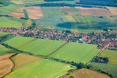 Vista aérea del campo Imagenes de archivo