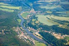 Vista aérea del campo Fotografía de archivo