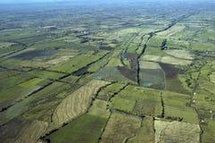 Vista aérea del campo Fotos de archivo libres de regalías