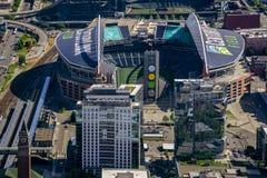 Vista aérea del campo de CenturyLink foto de archivo