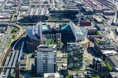 Vista aérea del campo de CenturyLink fotografía de archivo