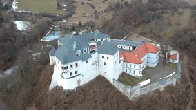 Vista aérea del castillo de Lupca almacen de video