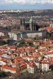 Vista aérea del castillo de Praga Imágenes de archivo libres de regalías