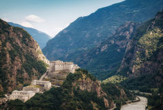 Vista aérea del castillo del bardo Foto de archivo