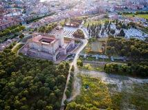 Vista aérea del castillo del La Mota en Medina del Campo Imágenes de archivo libres de regalías