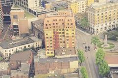 Vista aérea del centro de ciudad de Vancouver Fotografía de archivo libre de regalías