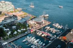 Vista aérea del centro de Harbourfront foto de archivo libre de regalías