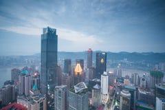 Vista aérea del centro de la ciudad en Chongqing Imagenes de archivo
