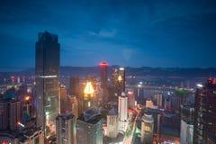 Vista aérea del centro de la ciudad en Chongqing Fotos de archivo libres de regalías