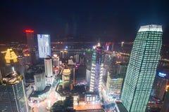 Vista aérea del centro de la ciudad en Chongqing Fotografía de archivo libre de regalías