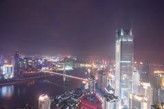 Vista aérea del centro de la ciudad en Chongqing Foto de archivo