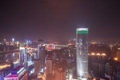 Vista aérea del centro de la ciudad en Chongqing Imagen de archivo libre de regalías