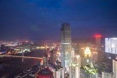 Vista aérea del centro de la ciudad en Chongqing Fotografía de archivo