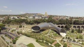 Vista aérea del centro de Tbilisi, Georgia almacen de video
