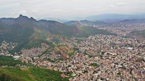 Vista aérea del centro urbano almacen de video