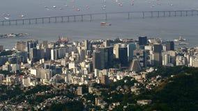 Vista aérea del centro urbano con la catedral metropolitana imagen de archivo libre de regalías