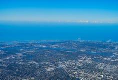 Vista aérea del clearwater Imágenes de archivo libres de regalías