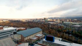 Vista aérea del coliseo del fútbol de Boise State metrajes