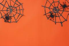 Vista aérea del concepto del fondo del festival de Halloween de los accesorios Imagenes de archivo