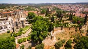 Vista aérea del convento del monasterio de Cristo en Tomar, Portugal Foto de archivo