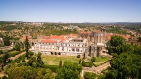 Vista aérea del convento del monasterio de Cristo en Tomar, Portugal Imagen de archivo