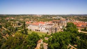 Vista aérea del convento del monasterio de Cristo en Tomar, Portugal Fotografía de archivo