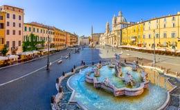 Vista aérea del cuadrado de Navona, plaza Navona, en Roma, Italia foto de archivo