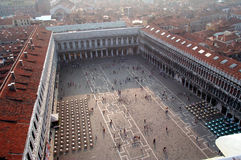 Vista aérea del cuadrado de San Marco Fotografía de archivo libre de regalías