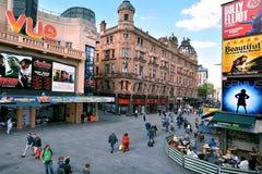 Vista aérea del cuadrado Londres Reino Unido de Leicester Imagenes de archivo