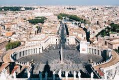 Vista aérea del cuadrado del Vaticano foto de archivo