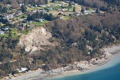 Isla aérea Muddslide de Whidbey Imagen de archivo libre de regalías