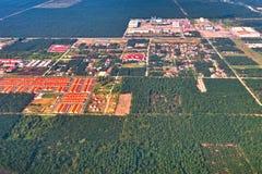 Vista aérea del desierto fotografía de archivo libre de regalías