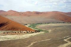 Vista aérea del desierto de Sossusvlei Imágenes de archivo libres de regalías