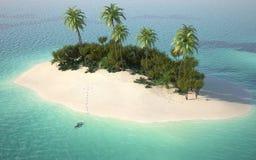 Vista aérea del desierto del caribbeanl stock de ilustración
