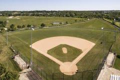 Vista aérea del diamante de béisbol Imagenes de archivo