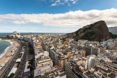 Vista aérea del distrito de Copacabana en Rio de Janeiro Fotografía de archivo