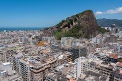 Vista aérea del distrito de Copacabana en Rio de Janeiro Fotos de archivo