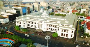 Vista aérea del edificio del museo del banco de Mandiri almacen de video