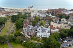 Vista aérea del embarcadero de Bournemouth Imagen de archivo